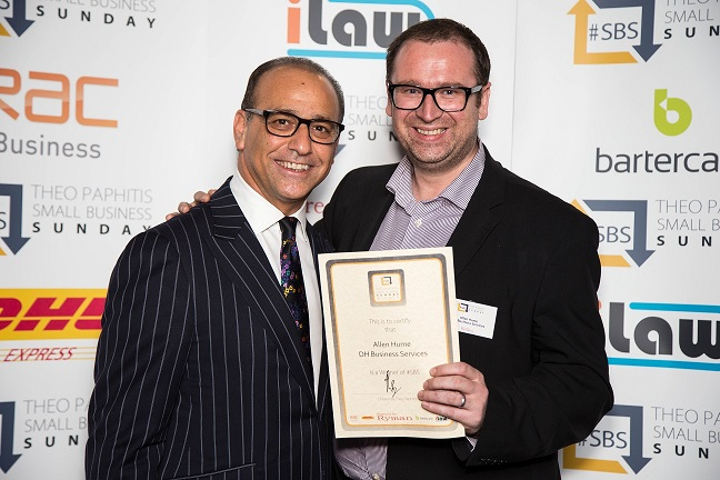 #SBS winner chosen by Theo Paphitis